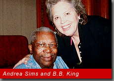 Andrea Sims and B.B. King