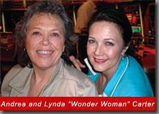 "Andrea Sims with Lynda ""Wonder Woman"" Carter on CBS Morning Show"