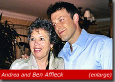 Andrea Sims and Ben Affleck